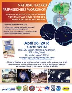 Natural Hazard workshop flyer