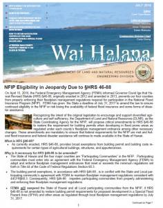 Wai Halana – July 2016 post thumbnail
