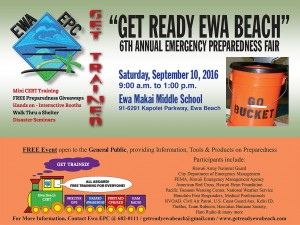 "6th Annual ""Get Ready Ewa Beach"" Emergency Preparedness Fair post thumbnail"